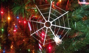 Spider web - from my grandmother, when I worked at Univ. of Richmond